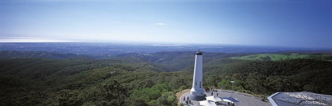 View of Mount Lofty Summit