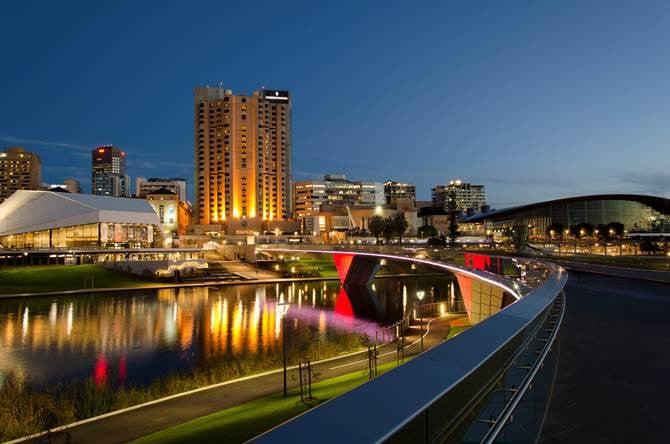 Adelaide riverbank.
