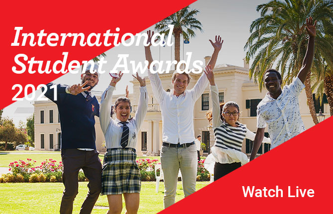 Recipients at the International Student Awards