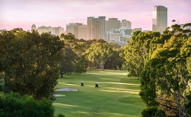 Adelaide parklands.