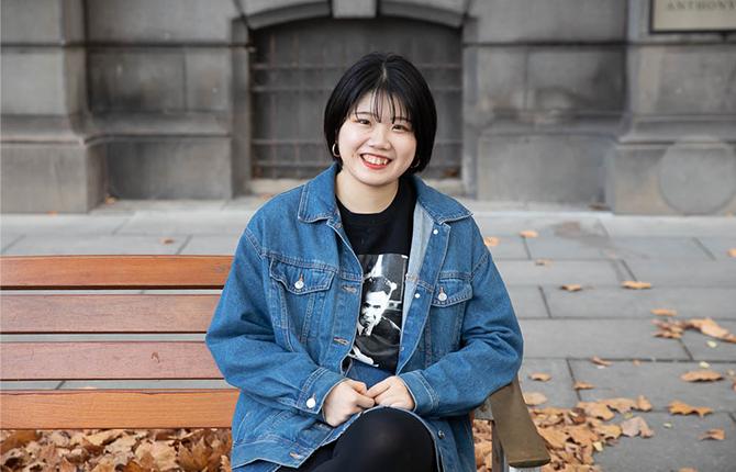 International student Minori from Japan