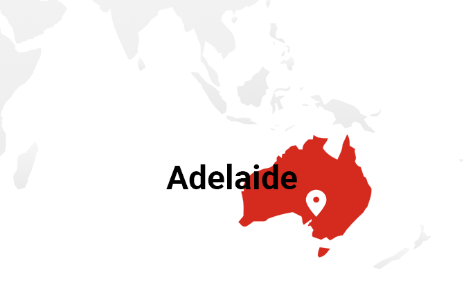 Map of Adelaide.